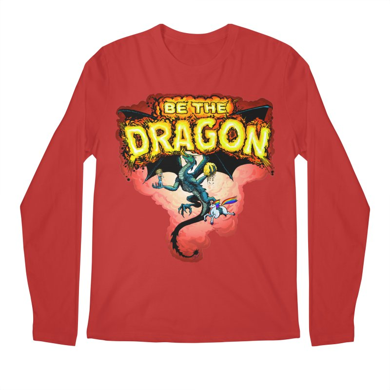 Be the Dragon! Save the Princess! Raise Up the Unicorns! Men's Regular Longsleeve T-Shirt by Joe Abboreno's Artist Shop