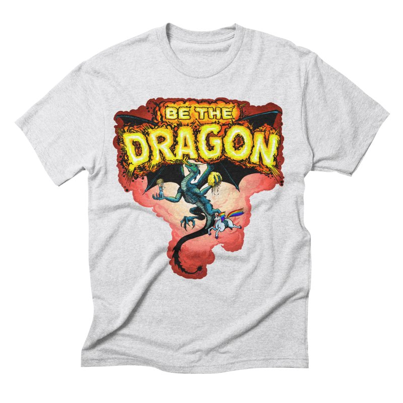 Be the Dragon! Save the Princess! Raise Up the Unicorns! Men's Triblend T-Shirt by Joe Abboreno's Artist Shop