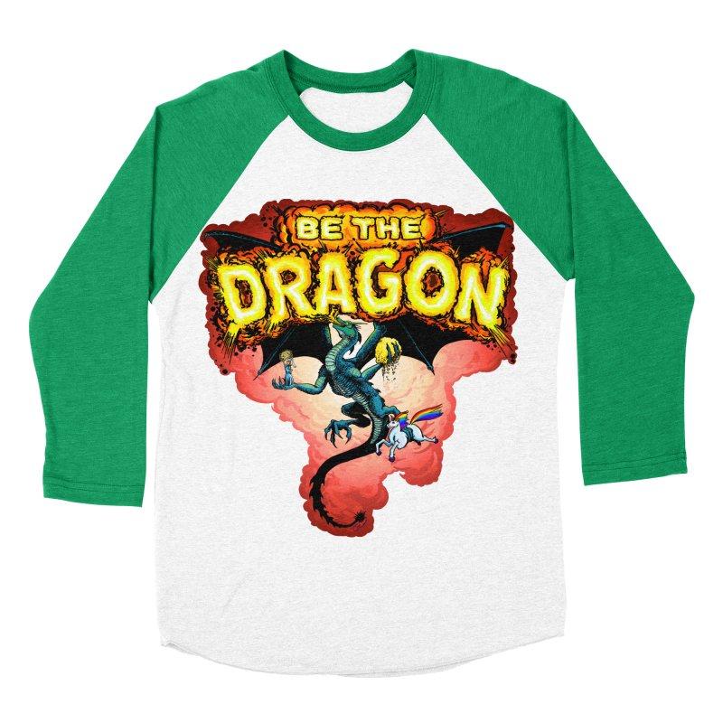 Be the Dragon! Save the Princess! Raise Up the Unicorns! Women's Baseball Triblend Longsleeve T-Shirt by Joe Abboreno's Artist Shop