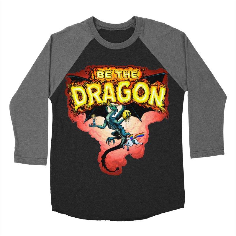 Be the Dragon! Save the Princess! Raise Up the Unicorns! Men's Baseball Triblend Longsleeve T-Shirt by Joe Abboreno's Artist Shop