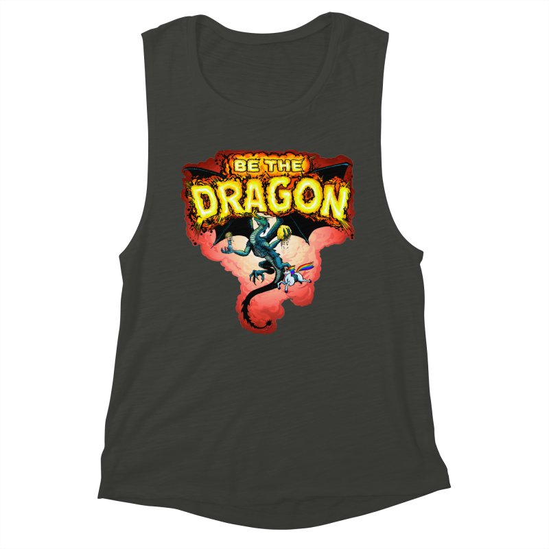 Be the Dragon! Save the Princess! Raise Up the Unicorns! Women's Muscle Tank by Joe Abboreno's Artist Shop