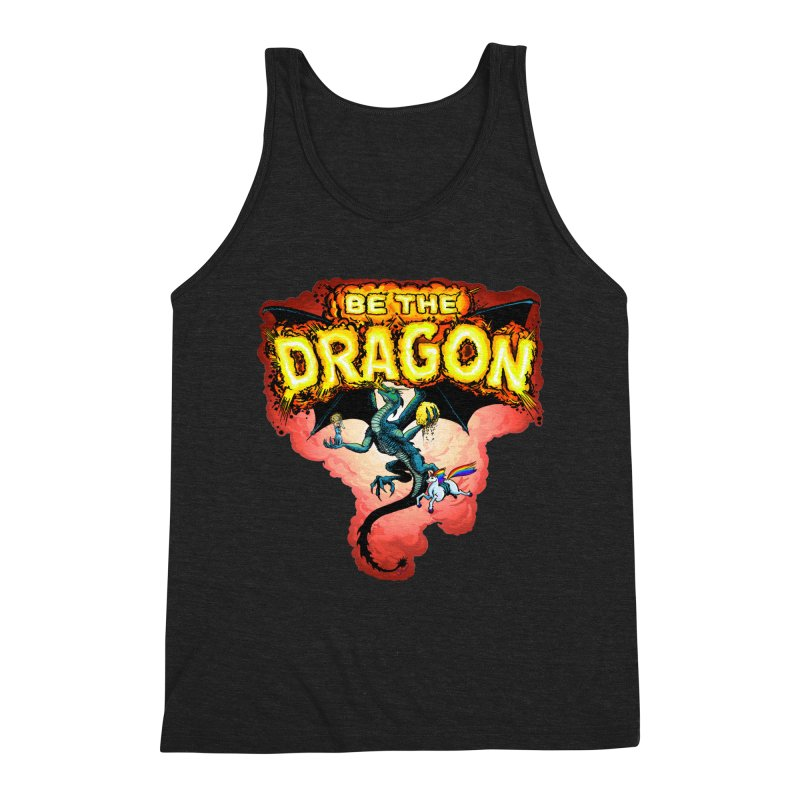 Be the Dragon! Save the Princess! Raise Up the Unicorns! Men's Triblend Tank by Joe Abboreno's Artist Shop