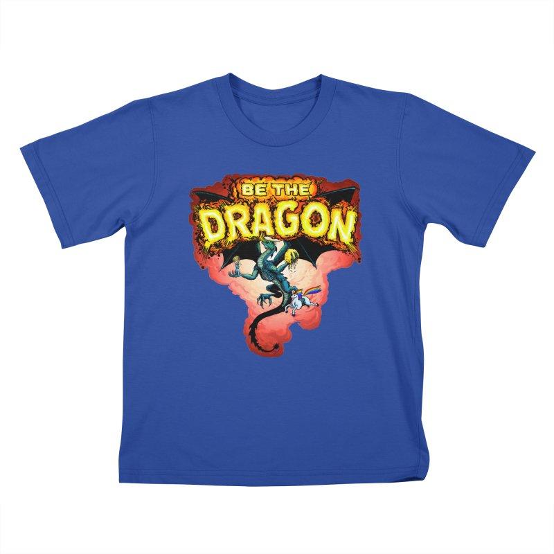 Be the Dragon! Save the Princess! Raise Up the Unicorns! Kids T-Shirt by Joe Abboreno's Artist Shop