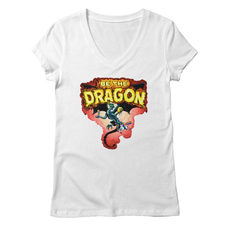 Be the Dragon! Save the Princess! Raise Up the Unicorns! Women's Regular V-Neck by Joe Abboreno's Artist Shop