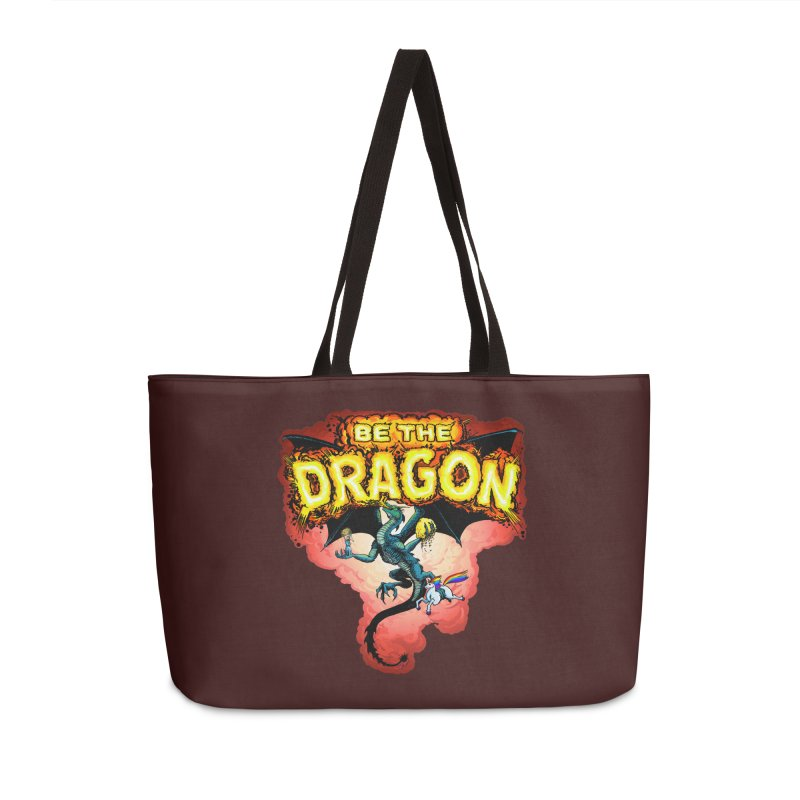 Be the Dragon! Save the Princess! Raise Up the Unicorns! Accessories Weekender Bag Bag by Joe Abboreno's Artist Shop