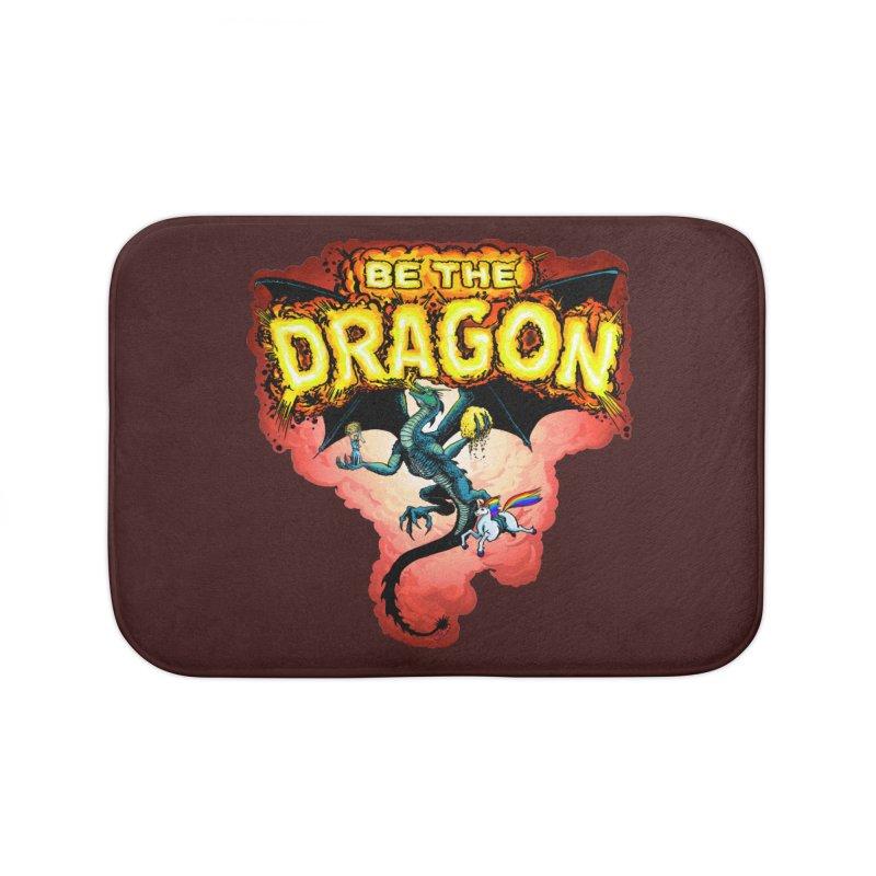 Be the Dragon! Save the Princess! Raise Up the Unicorns! Home Bath Mat by Joe Abboreno's Artist Shop