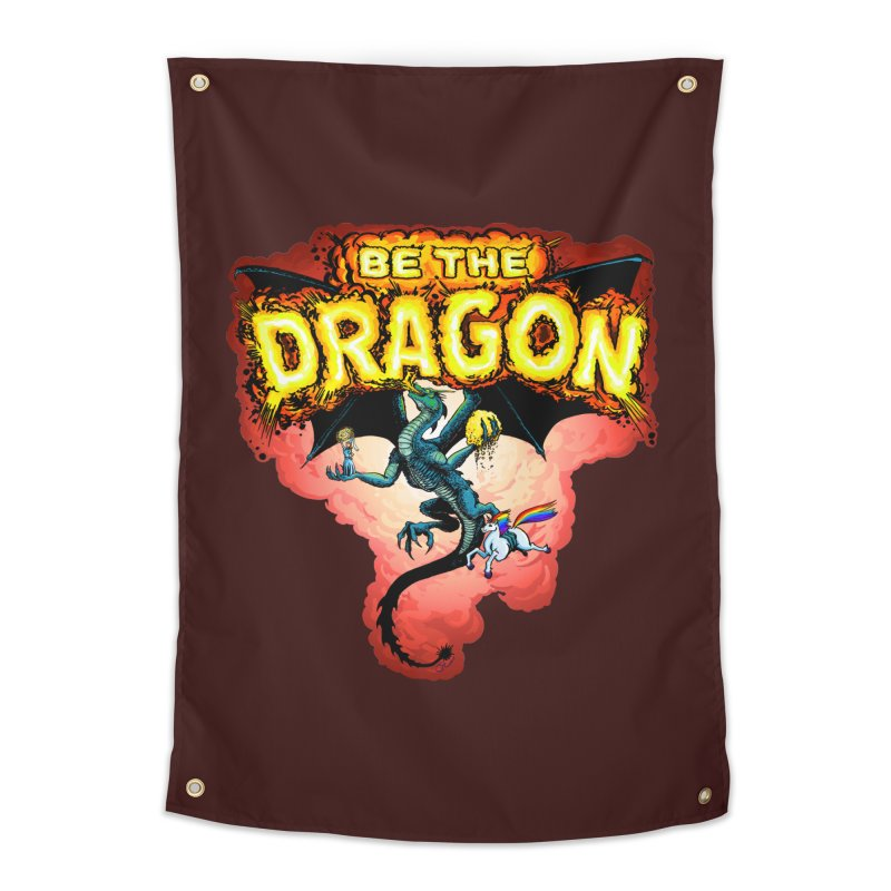 Be the Dragon! Save the Princess! Raise Up the Unicorns! Home Tapestry by Joe Abboreno's Artist Shop