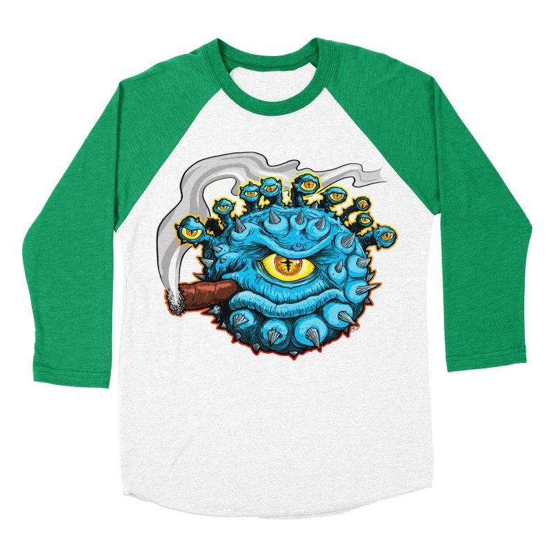 Chomp! Women's Baseball Triblend Longsleeve T-Shirt by Joe Abboreno's Artist Shop