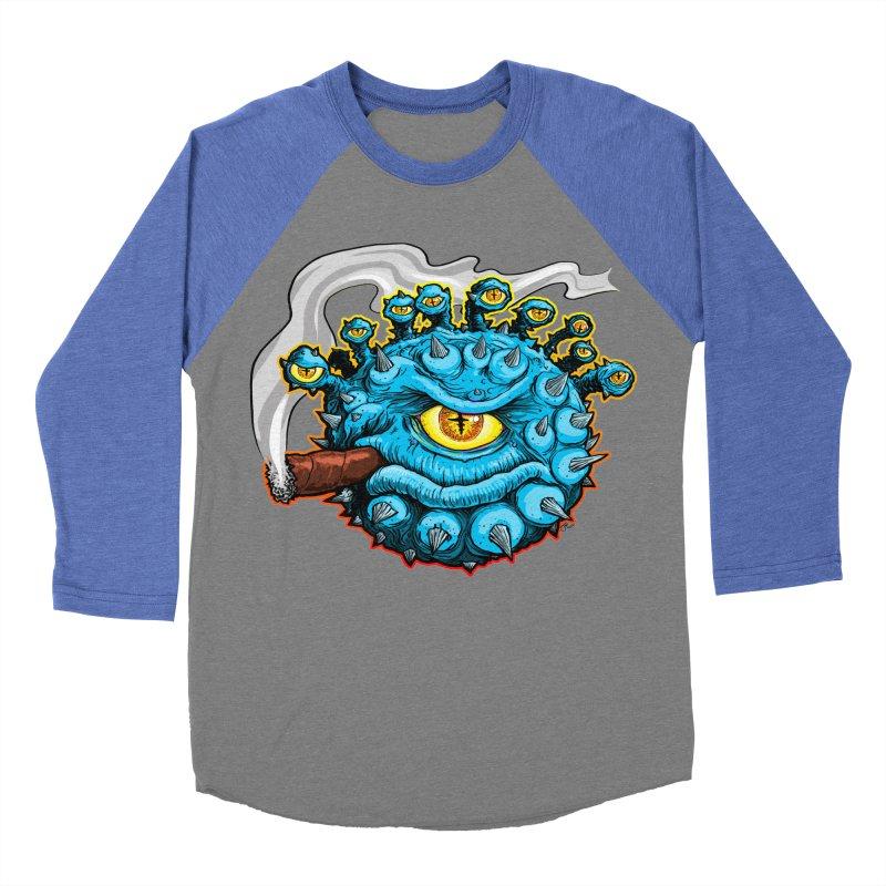 Chomp! Men's Baseball Triblend Longsleeve T-Shirt by Joe Abboreno's Artist Shop