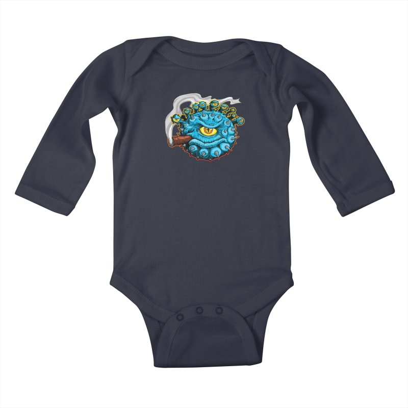 Chomp! Kids Baby Longsleeve Bodysuit by Joe Abboreno's Artist Shop