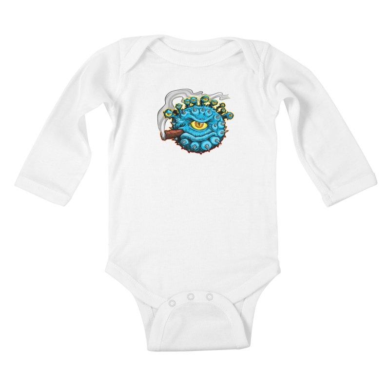 Chomp! Kids Baby Longsleeve Bodysuit by Joe Abboreno's Artist Shop
