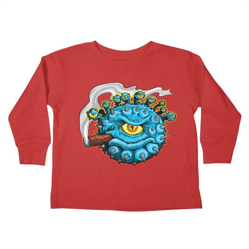 Chomp! Kids Toddler Longsleeve T-Shirt by Joe Abboreno's Artist Shop