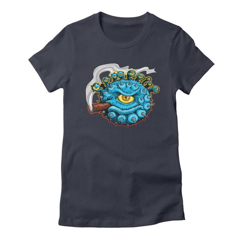 Chomp! Women's Fitted T-Shirt by Joe Abboreno's Artist Shop