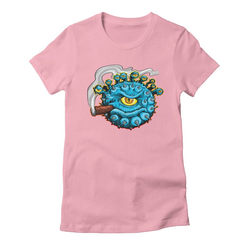 Chomp! Women's Fitted T-Shirt by Joe Abboreno's Artist Shop