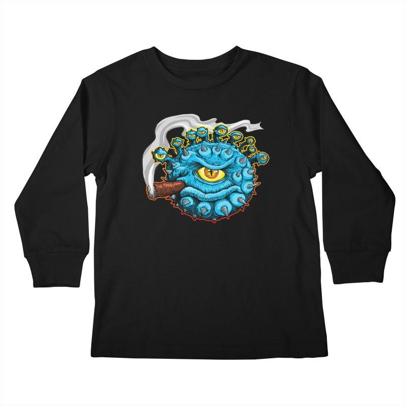 Chomp! Kids Longsleeve T-Shirt by Joe Abboreno's Artist Shop