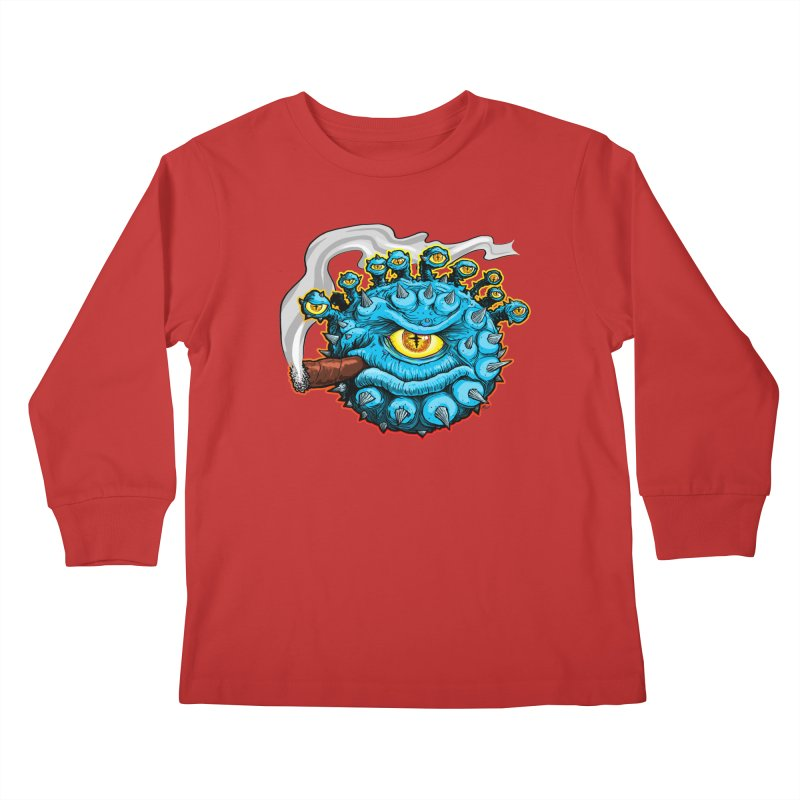 Chomp! Kids Longsleeve T-Shirt by Joe Abboreno's Artist Shop