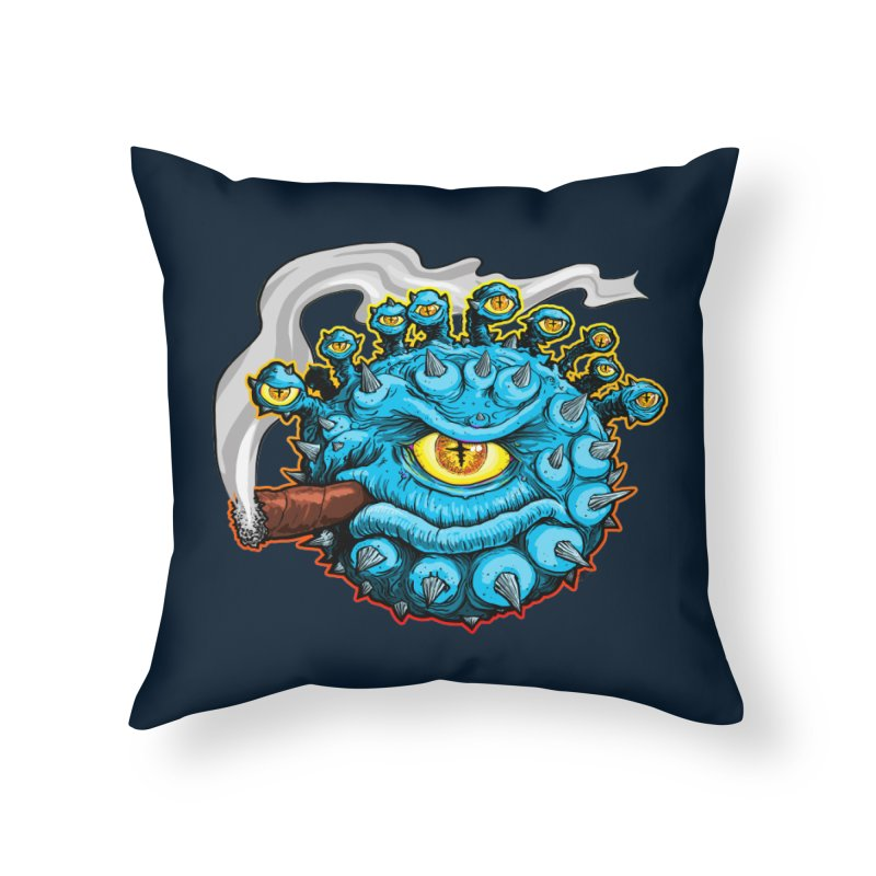 Chomp! Home Throw Pillow by Joe Abboreno's Artist Shop