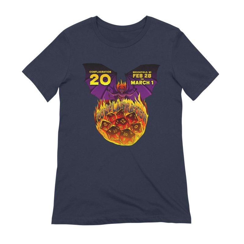 Conflagration 20 Official Design Women's Extra Soft T-Shirt by Joe Abboreno's Artist Shop