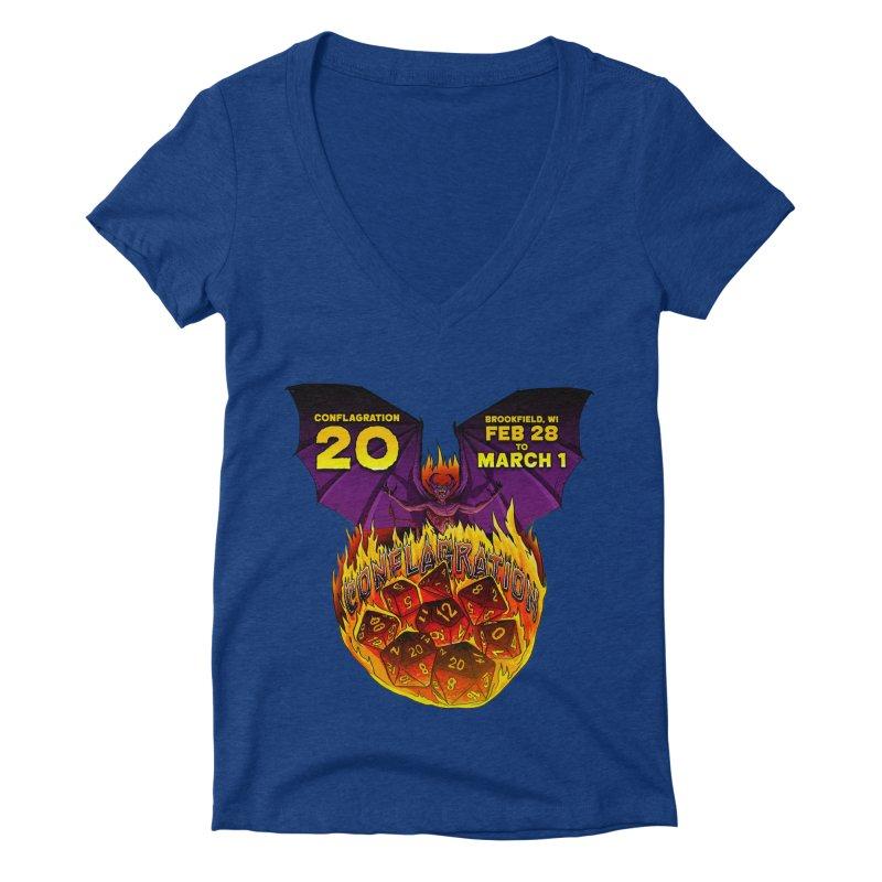 Conflagration 20 Official Design Women's Deep V-Neck V-Neck by Joe Abboreno's Artist Shop