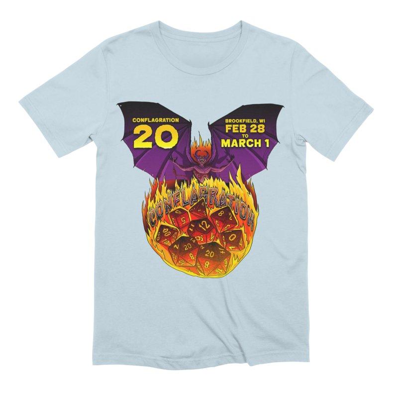 Conflagration 20 Official Design Men's Extra Soft T-Shirt by Joe Abboreno's Artist Shop