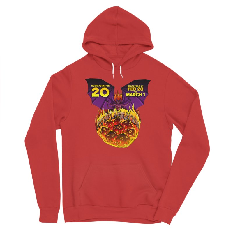 Conflagration 20 Official Design Men's Sponge Fleece Pullover Hoody by Joe Abboreno's Artist Shop