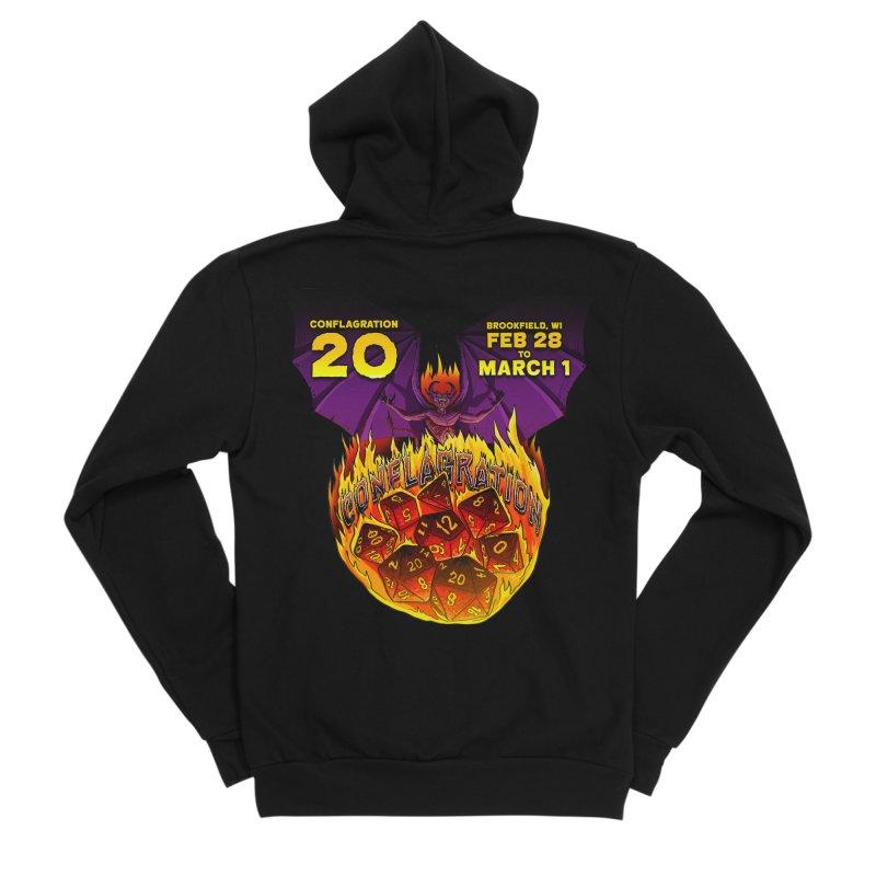 Conflagration 20 Official Design Men's Sponge Fleece Zip-Up Hoody by Joe Abboreno's Artist Shop