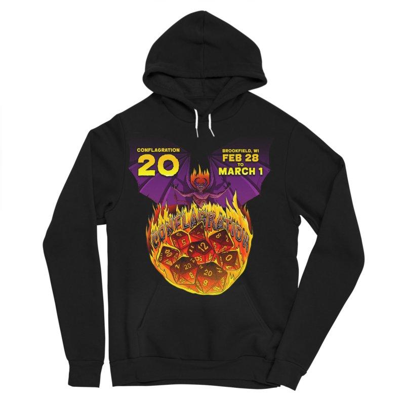 Conflagration 20 Official Design Men's Sponge Fleece Pullover Hoody by Joe Abboreno's Artist Shop
