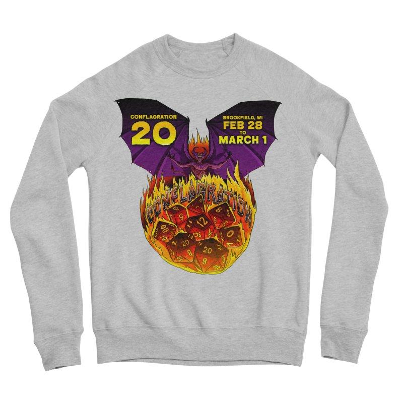Conflagration 20 Official Design Women's Sponge Fleece Sweatshirt by Joe Abboreno's Artist Shop