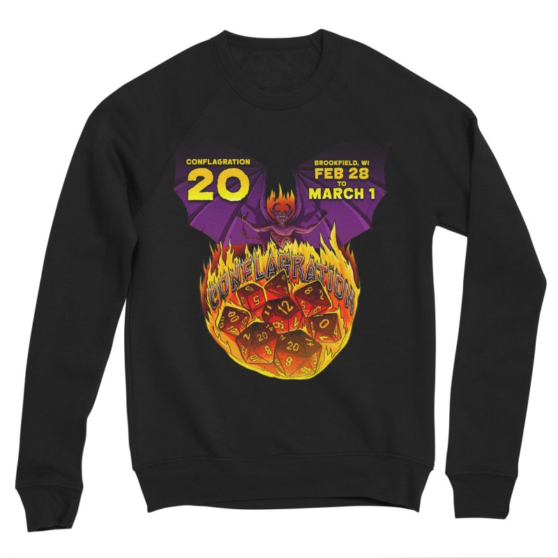 Conflagration 20 Official Design Men's Sponge Fleece Sweatshirt by Joe Abboreno's Artist Shop