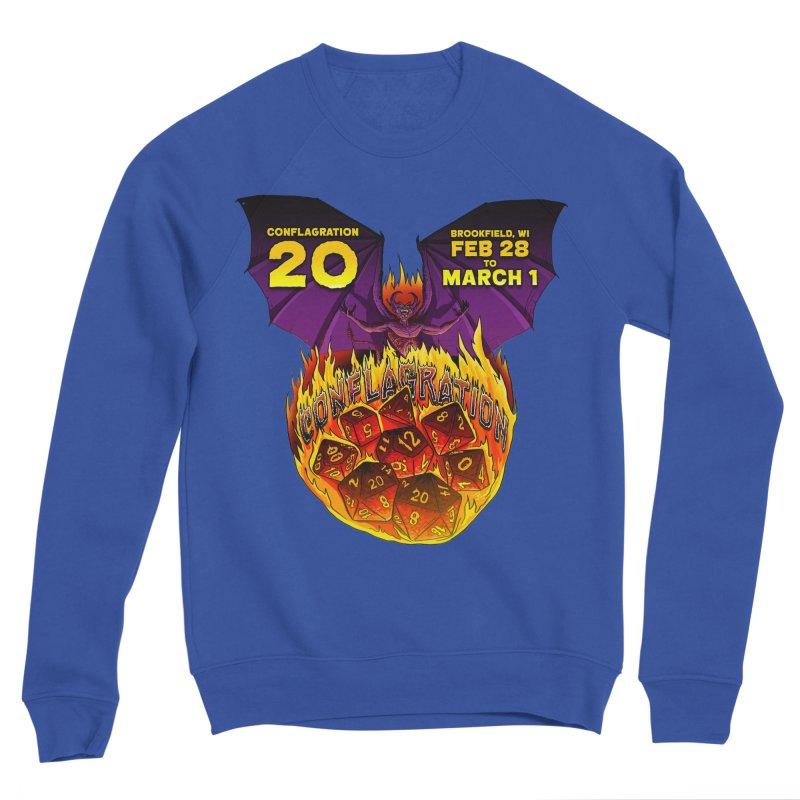 Conflagration 20 Official Design Men's Sponge Fleece Sweatshirt by Joe Abboreno's Artist Shop