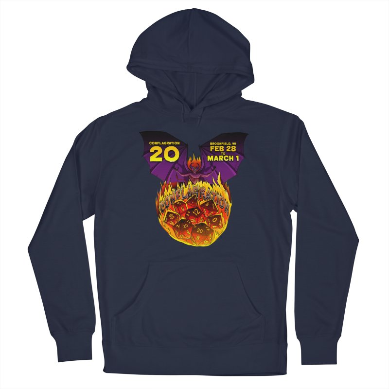 Conflagration 20 Official Design Men's French Terry Pullover Hoody by Joe Abboreno's Artist Shop