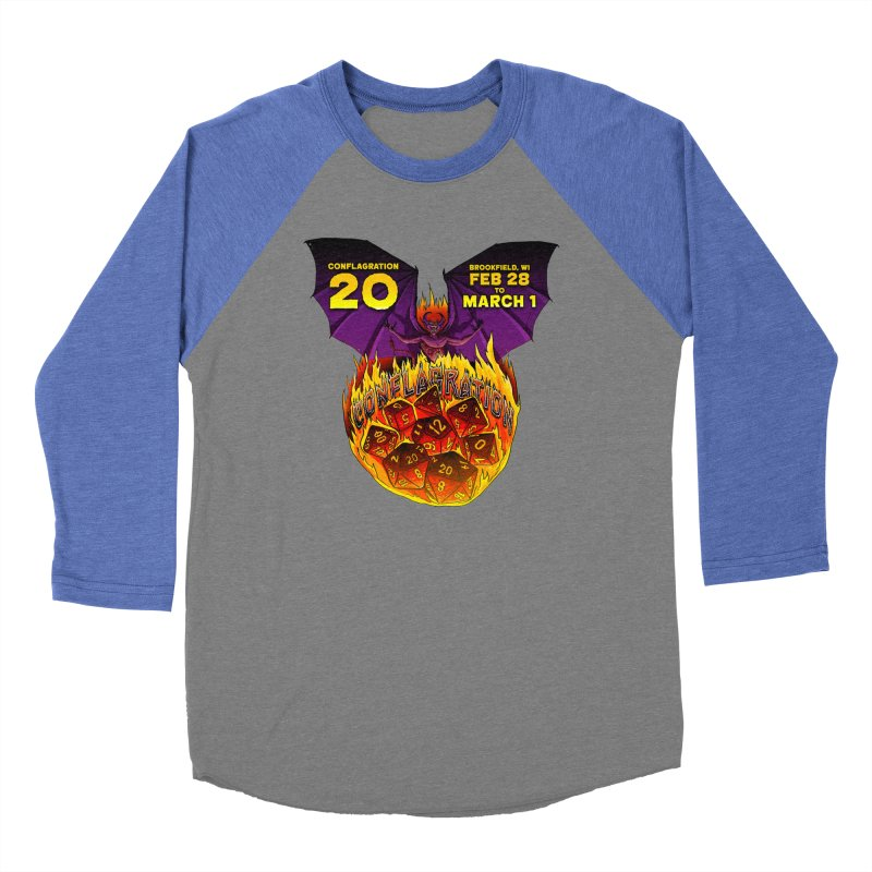 Conflagration 20 Official Design Men's Baseball Triblend Longsleeve T-Shirt by Joe Abboreno's Artist Shop