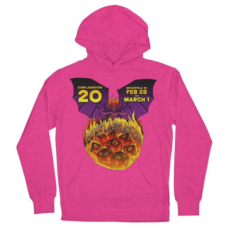 Conflagration 20 Official Design Women's French Terry Pullover Hoody by Joe Abboreno's Artist Shop