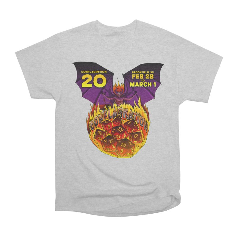 Conflagration 20 Official Design Women's Heavyweight Unisex T-Shirt by Joe Abboreno's Artist Shop