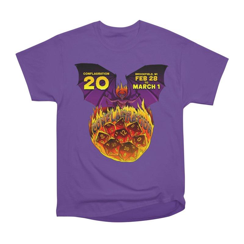 Conflagration 20 Official Design Men's Heavyweight T-Shirt by Joe Abboreno's Artist Shop