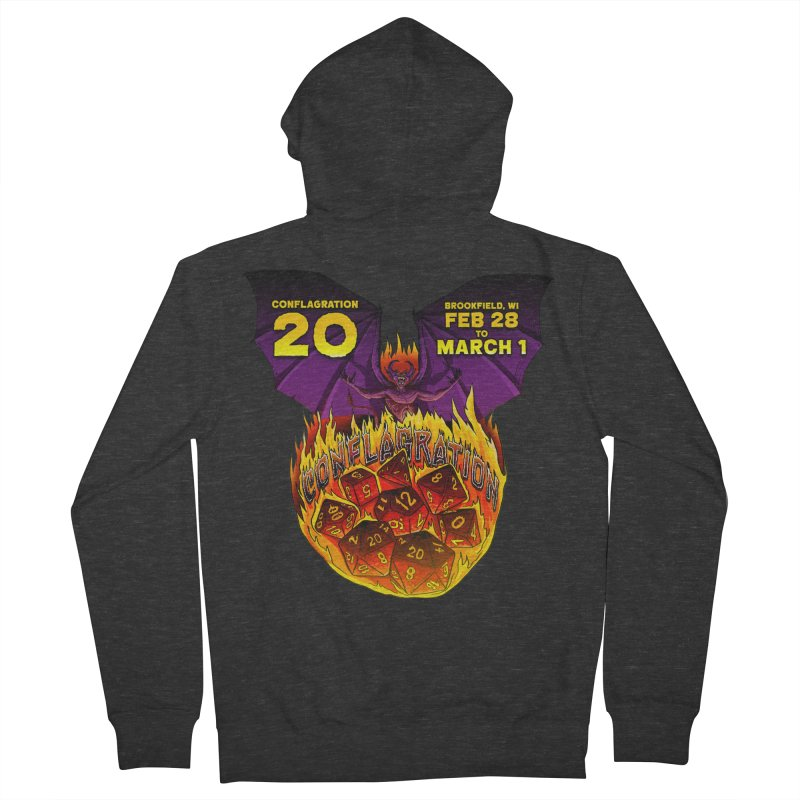 Conflagration 20 Official Design Women's French Terry Zip-Up Hoody by Joe Abboreno's Artist Shop