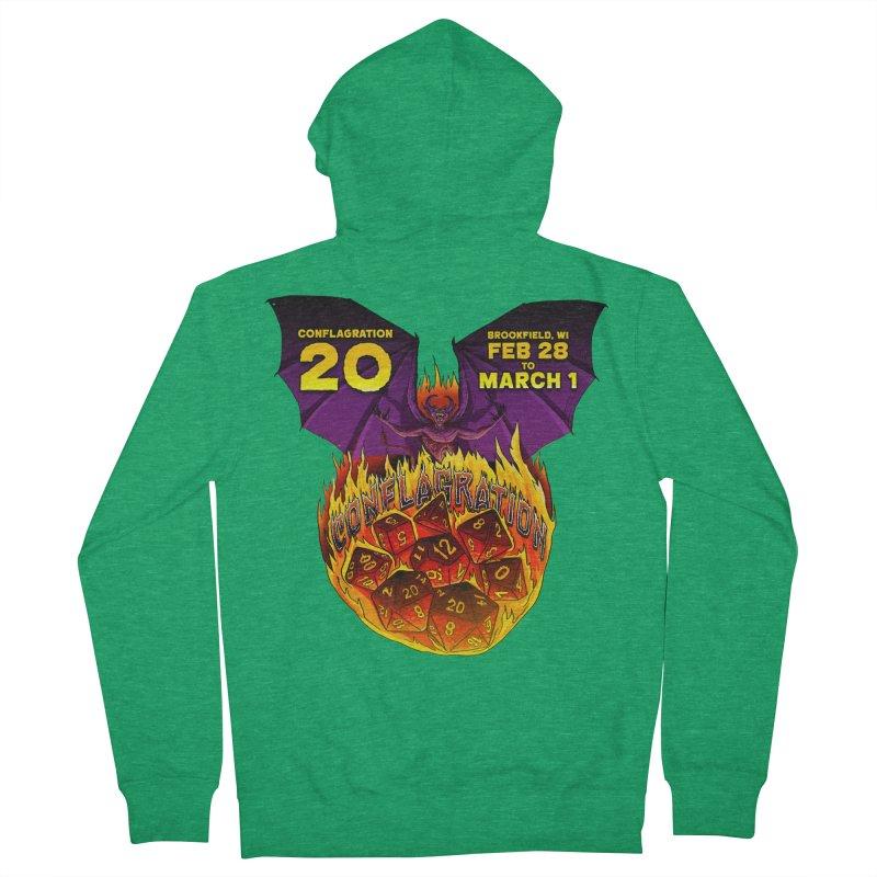 Conflagration 20 Official Design Men's Zip-Up Hoody by Joe Abboreno's Artist Shop