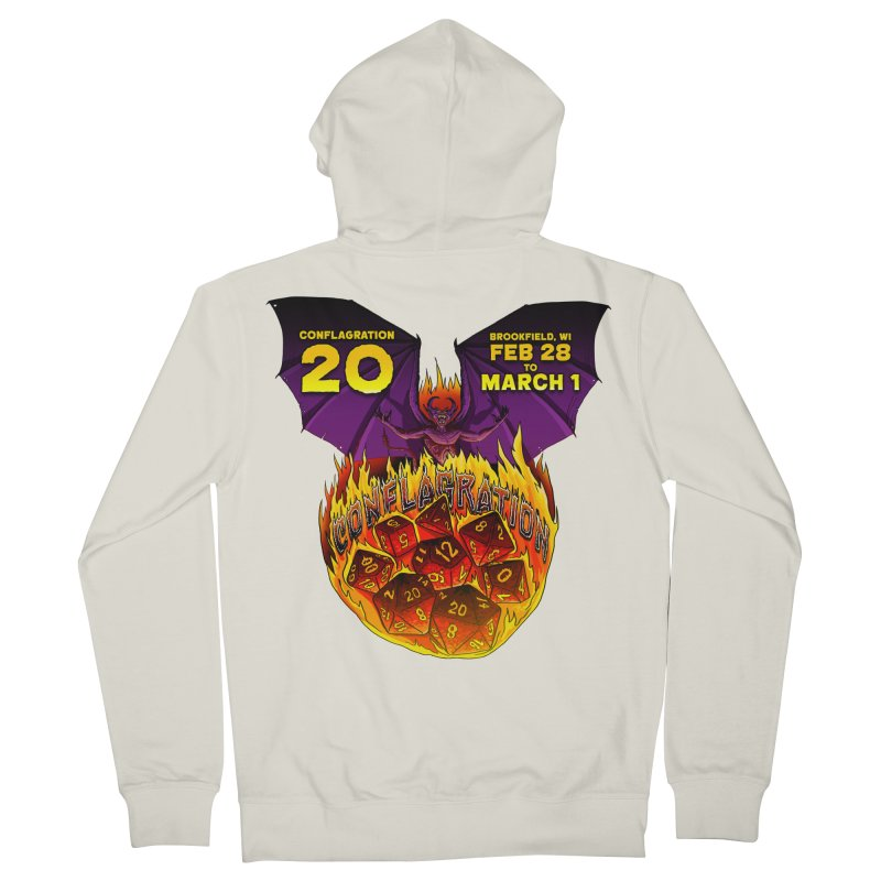 Conflagration 20 Official Design Men's French Terry Zip-Up Hoody by Joe Abboreno's Artist Shop