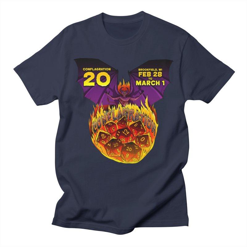 Conflagration 20 Official Design Men's T-Shirt by Joe Abboreno's Artist Shop