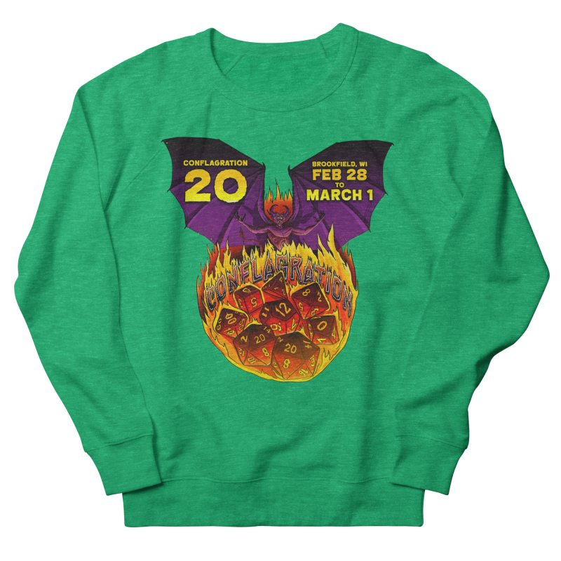 Conflagration 20 Official Design Women's French Terry Sweatshirt by Joe Abboreno's Artist Shop