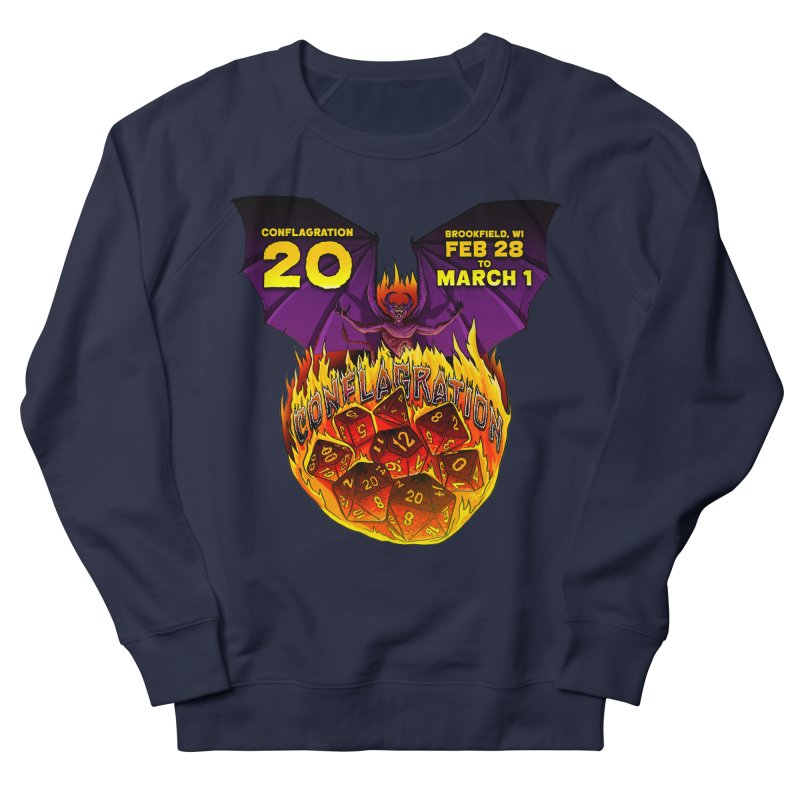 Conflagration 20 Official Design Men's French Terry Sweatshirt by Joe Abboreno's Artist Shop