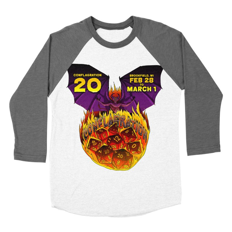Conflagration 20 Official Design Women's Baseball Triblend Longsleeve T-Shirt by Joe Abboreno's Artist Shop