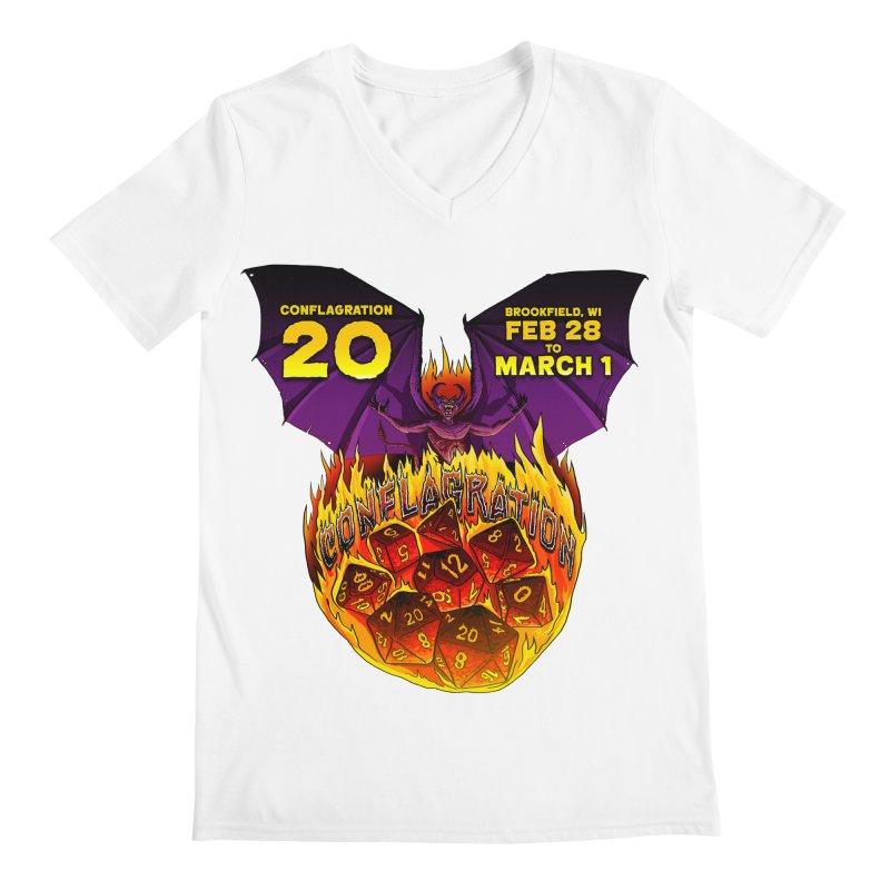 Conflagration 20 Official Design Men's V-Neck by Joe Abboreno's Artist Shop