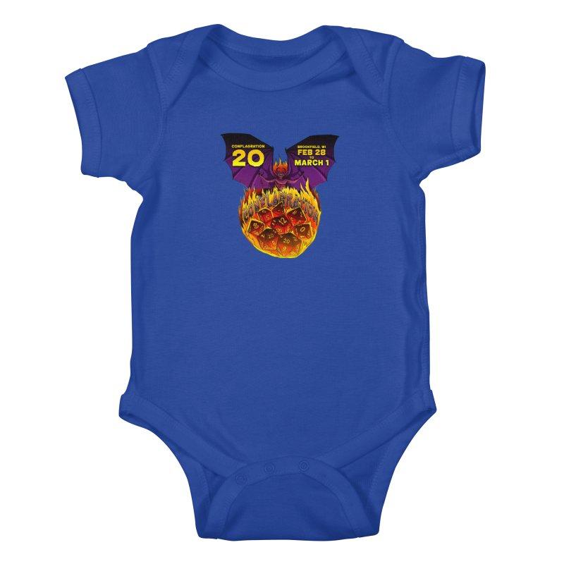 Conflagration 20 Official Design Kids Baby Bodysuit by Joe Abboreno's Artist Shop