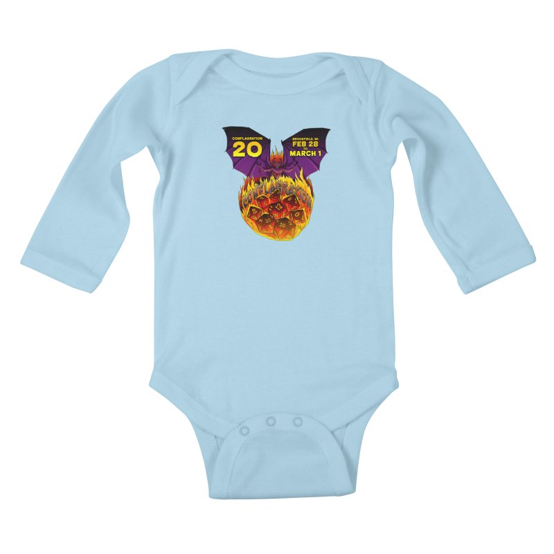 Conflagration 20 Official Design Kids Baby Longsleeve Bodysuit by Joe Abboreno's Artist Shop