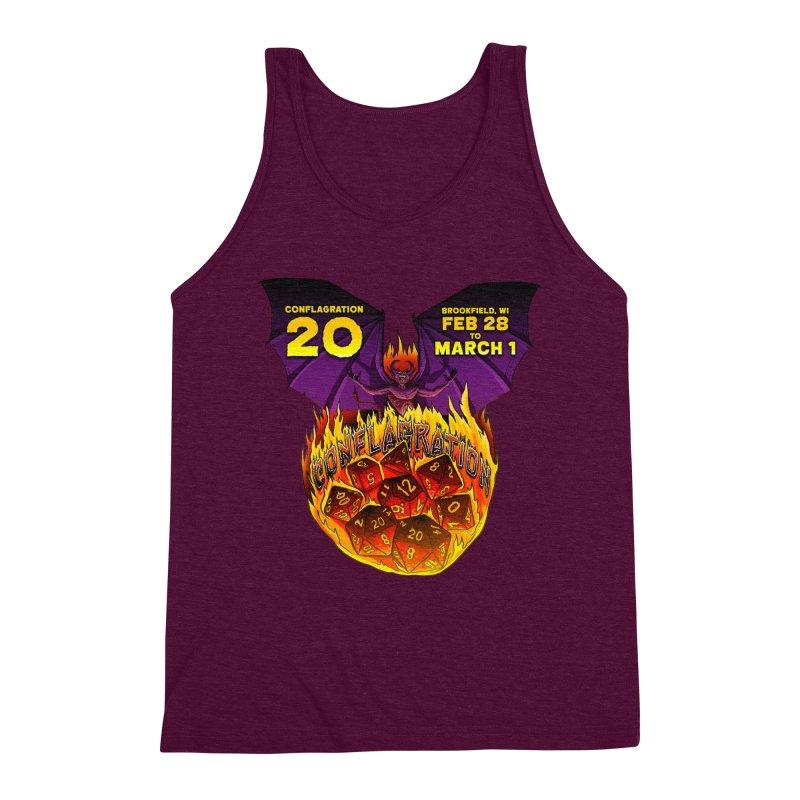 Conflagration 20 Official Design Men's Triblend Tank by Joe Abboreno's Artist Shop