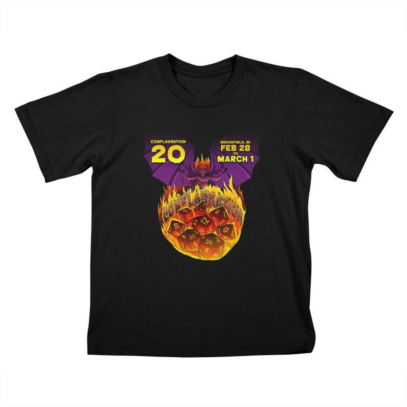Conflagration 20 Official Design Kids T-Shirt by Joe Abboreno's Artist Shop