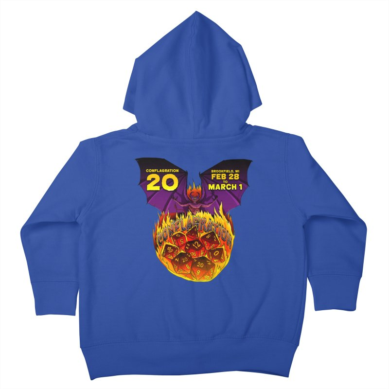 Conflagration 20 Official Design Kids Toddler Zip-Up Hoody by Joe Abboreno's Artist Shop