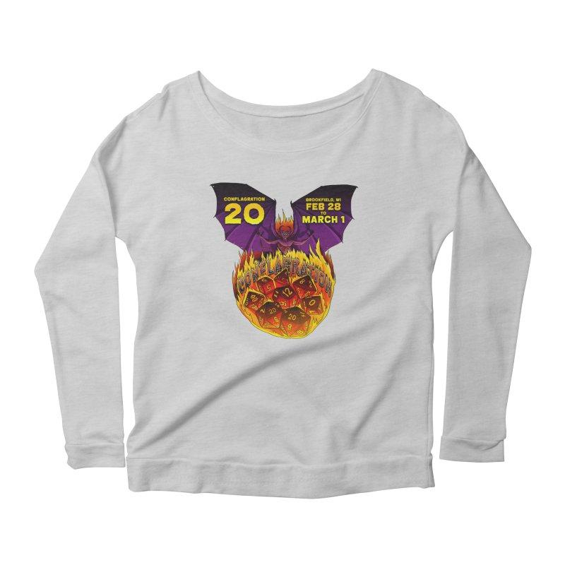 Conflagration 20 Official Design Women's Scoop Neck Longsleeve T-Shirt by Joe Abboreno's Artist Shop