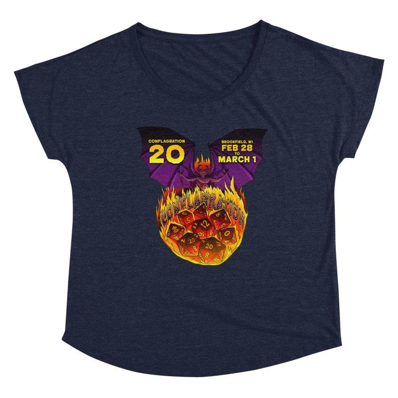 Conflagration 20 Official Design Women's Dolman Scoop Neck by Joe Abboreno's Artist Shop